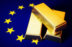 EU gold Stock Photography