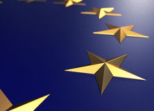 EU Golden Stars Royalty Free Stock Photography