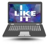 Eu gosto d Eu gosto da tecnologia da informação Portátil com uma chalaça Fotografia de Stock Royalty Free