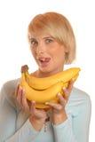 Eu gosto da banana Fotos de Stock Royalty Free