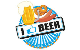 Eu gosto da cerveja Fotos de Stock Royalty Free
