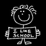 Eu gosto da escola ilustração royalty free