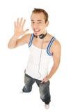 Eu gosto da música e digo-o olá! Fotografia de Stock Royalty Free