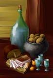 Alimento e bebida ilustração do vetor