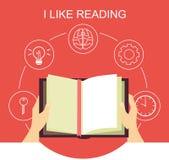 Eu gosto de ler Imagem de Stock Royalty Free