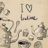 Eu gosto do teatime Fotos de Stock