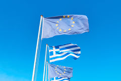 The EU and Greece flags Stock Photography