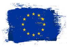 EU grunge flag Royalty Free Stock Image
