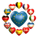 EU hearts Royalty Free Stock Photos