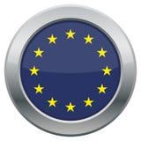 EU Icon. An EU flag icon isolated on a white background Royalty Free Stock Photos