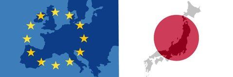 EU - Japan relationship royalty free stock photos