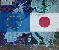 EU - Japan relationship stock photo