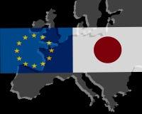 EU - Japan relationship royalty free stock photography
