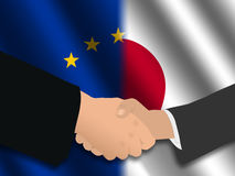 EU Japanese meeting Stock Photography