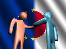 EU Japanese meeting Stock Images