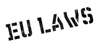 EU Laws rubber stamp Stock Photography