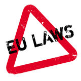 EU Laws rubber stamp Royalty Free Stock Image