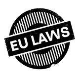 EU Laws rubber stamp Royalty Free Stock Photography
