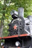 EU-680 - locomotive à vapeur 96 dans le musée de l'équipement militaire sur la colline de Poklonnaya à Moscou images stock
