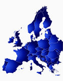 Eu-map Royalty Free Stock Images