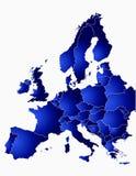 Eu-mapa Imagens de Stock Royalty Free