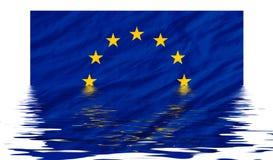 Eu-Markierungsfahne Lizenzfreies Stockbild