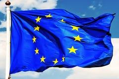 EU-Markierungsfahnen. Lizenzfreie Stockfotografie