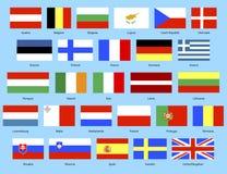 EU-Markierungsfahnen Lizenzfreies Stockfoto