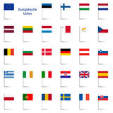 EU Member States - Flags Stock Photo
