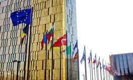 EU members flags Stock Photo