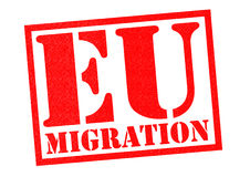 EU MIGRATION Stock Image