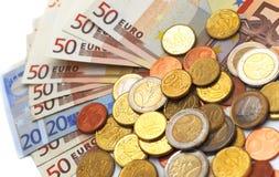 Eu money. On white background Stock Photo