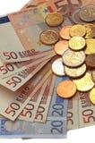 Eu money. On white background Stock Photos