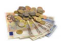 Eu money. On white background Stock Images