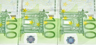 EU money. EU one hundred Euro bills Royalty Free Stock Images