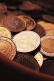 EU (mynt för europeisk union) Arkivbild