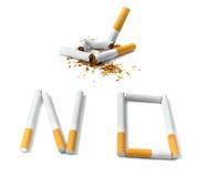 Eu não fumo agora Imagens de Stock