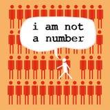 Eu não sou um número ilustração royalty free