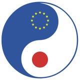 EU och Japan Arkivbild