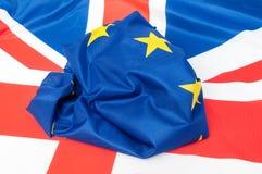 EU och UK Arkivbild