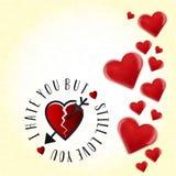 Eu odeio-o mas ainda amo-o Fundo do dia de Valentim ilustração do vetor