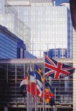 Eu parliament building brussels belgium europe Stock Images