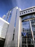 Eu parliament building brussels belgium europe royalty free stock photography