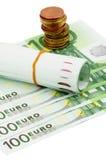 EU-pengar Arkivbild