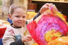 Eu pintei um arco-íris! Fotografia de Stock Royalty Free