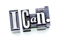 Eu posso. Imagem de Stock