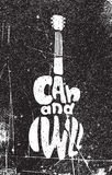 Eu posso e eu vou faz4e-lo Cartaz inspirador do grunge Imagens de Stock
