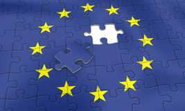EU puzzle Royalty Free Stock Photography