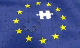 EU puzzle. European Union Puzzle Royalty Free Stock Photography