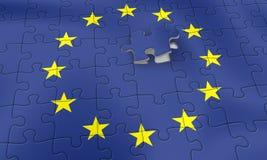 EU puzzle. European Union Puzzle Royalty Free Stock Photos